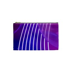 Rays Light Chevron Blue Purple Line Light Cosmetic Bag (small)  by Mariart
