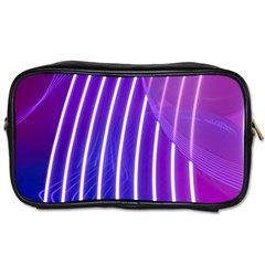 Rays Light Chevron Blue Purple Line Light Toiletries Bags 2 Side by Mariart