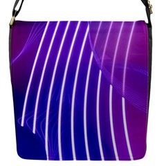 Rays Light Chevron Blue Purple Line Light Flap Messenger Bag (s) by Mariart