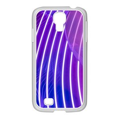 Rays Light Chevron Blue Purple Line Light Samsung Galaxy S4 I9500/ I9505 Case (white) by Mariart