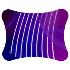 Rays Light Chevron Blue Purple Line Light Jigsaw Puzzle Photo Stand (bow) by Mariart