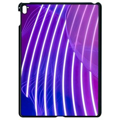 Rays Light Chevron Blue Purple Line Light Apple Ipad Pro 9 7   Black Seamless Case