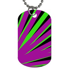 Rays Light Chevron Purple Green Black Dog Tag (one Side) by Mariart