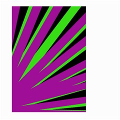 Rays Light Chevron Purple Green Black Large Garden Flag (two Sides) by Mariart