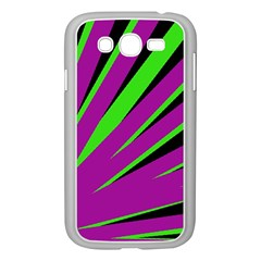 Rays Light Chevron Purple Green Black Samsung Galaxy Grand Duos I9082 Case (white) by Mariart