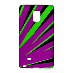Rays Light Chevron Purple Green Black Galaxy Note Edge by Mariart
