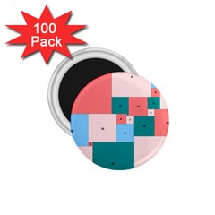 Simple Perfect Squares Squares Order 1 75  Magnets (100 Pack)