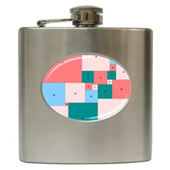 Simple Perfect Squares Squares Order Hip Flask (6 Oz) by Mariart
