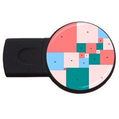 Simple Perfect Squares Squares Order Usb Flash Drive Round (2 Gb)