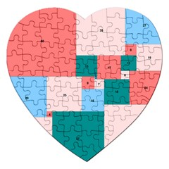 Simple Perfect Squares Squares Order Jigsaw Puzzle (heart) by Mariart