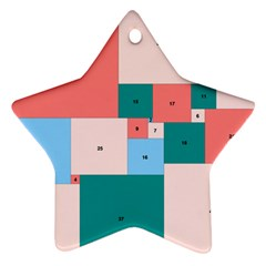 Simple Perfect Squares Squares Order Star Ornament (two Sides) by Mariart