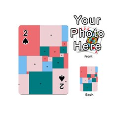 Simple Perfect Squares Squares Order Playing Cards 54 (mini)  by Mariart
