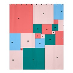 Simple Perfect Squares Squares Order Shower Curtain 60  X 72  (medium)  by Mariart
