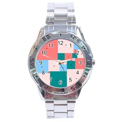 Simple Perfect Squares Squares Order Stainless Steel Analogue Watch by Mariart