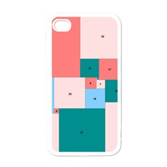 Simple Perfect Squares Squares Order Apple Iphone 4 Case (white) by Mariart