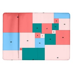 Simple Perfect Squares Squares Order Samsung Galaxy Tab 10 1  P7500 Flip Case by Mariart