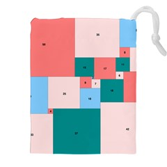 Simple Perfect Squares Squares Order Drawstring Pouches (xxl) by Mariart