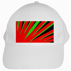 Rays Light Chevron Red Green Black White Cap by Mariart