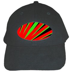 Rays Light Chevron Red Green Black Black Cap by Mariart