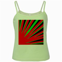Rays Light Chevron Red Green Black Green Spaghetti Tank by Mariart