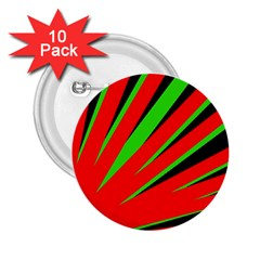 Rays Light Chevron Red Green Black 2 25  Buttons (10 Pack)