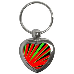 Rays Light Chevron Red Green Black Key Chains (heart)