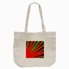 Rays Light Chevron Red Green Black Tote Bag (cream) by Mariart