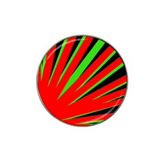 Rays Light Chevron Red Green Black Hat Clip Ball Marker by Mariart