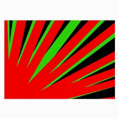 Rays Light Chevron Red Green Black Large Glasses Cloth (2 Side) by Mariart