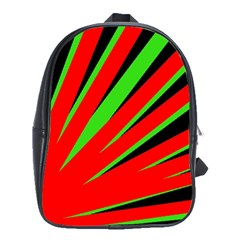 Rays Light Chevron Red Green Black School Bags(large)