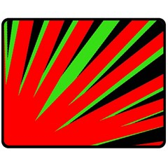 Rays Light Chevron Red Green Black Fleece Blanket (medium)