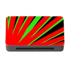 Rays Light Chevron Red Green Black Memory Card Reader With Cf by Mariart