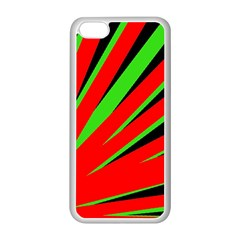 Rays Light Chevron Red Green Black Apple Iphone 5c Seamless Case (white) by Mariart
