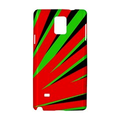 Rays Light Chevron Red Green Black Samsung Galaxy Note 4 Hardshell Case by Mariart