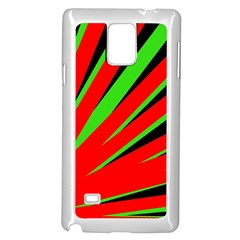 Rays Light Chevron Red Green Black Samsung Galaxy Note 4 Case (white) by Mariart