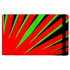 Rays Light Chevron Red Green Black Apple Ipad Pro 12 9   Flip Case by Mariart