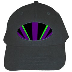 Rays Light Chevron Purple Green Black Line Black Cap by Mariart
