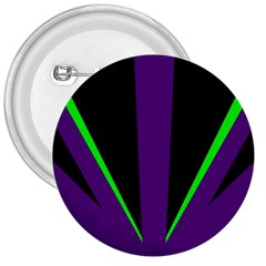 Rays Light Chevron Purple Green Black Line 3  Buttons by Mariart