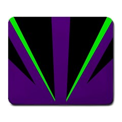Rays Light Chevron Purple Green Black Line Large Mousepads by Mariart