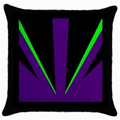 Rays Light Chevron Purple Green Black Line Throw Pillow Case (black) by Mariart