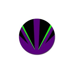 Rays Light Chevron Purple Green Black Line Golf Ball Marker by Mariart