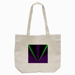 Rays Light Chevron Purple Green Black Line Tote Bag (cream) by Mariart