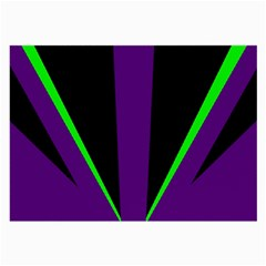 Rays Light Chevron Purple Green Black Line Large Glasses Cloth by Mariart
