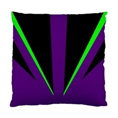 Rays Light Chevron Purple Green Black Line Standard Cushion Case (one Side) by Mariart