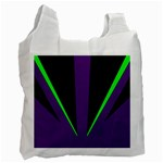 Rays Light Chevron Purple Green Black Line Recycle Bag (One Side) Front