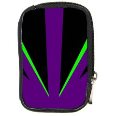 Rays Light Chevron Purple Green Black Line Compact Camera Cases by Mariart