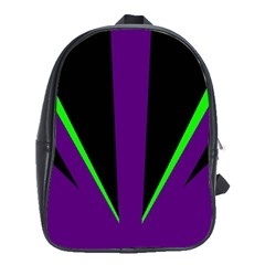 Rays Light Chevron Purple Green Black Line School Bags(large)