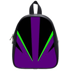 Rays Light Chevron Purple Green Black Line School Bags (small)  by Mariart