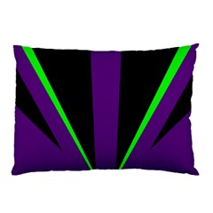 Rays Light Chevron Purple Green Black Line Pillow Case (two Sides) by Mariart
