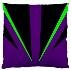 Rays Light Chevron Purple Green Black Line Large Cushion Case (one Side) by Mariart
